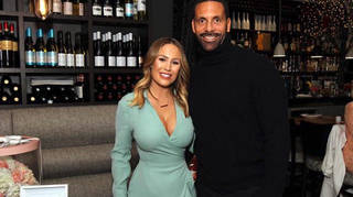 Kate Wright and Rio Ferdinand