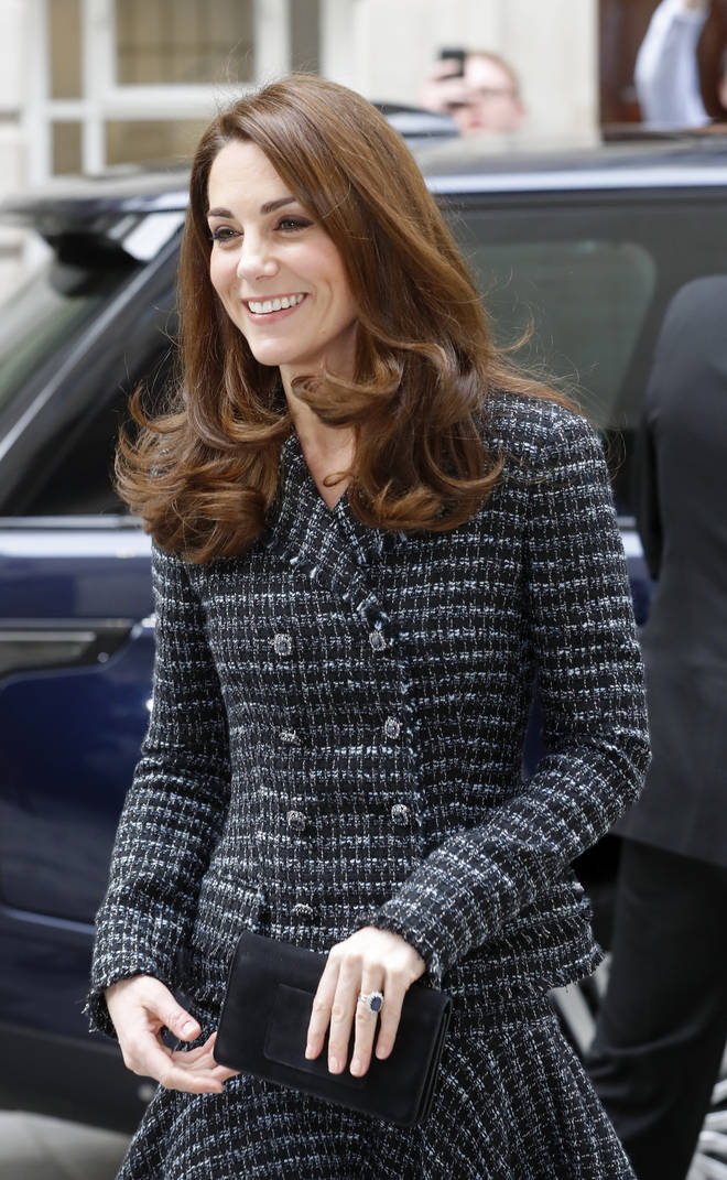 Kate Middleton finished the ensemble off with a Mulberry clutch bag