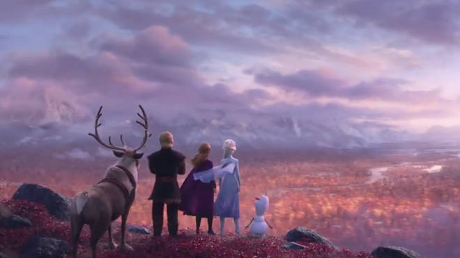 Sven, Kristoff, Anna, Elsa and Olaf are back from Frozen 2