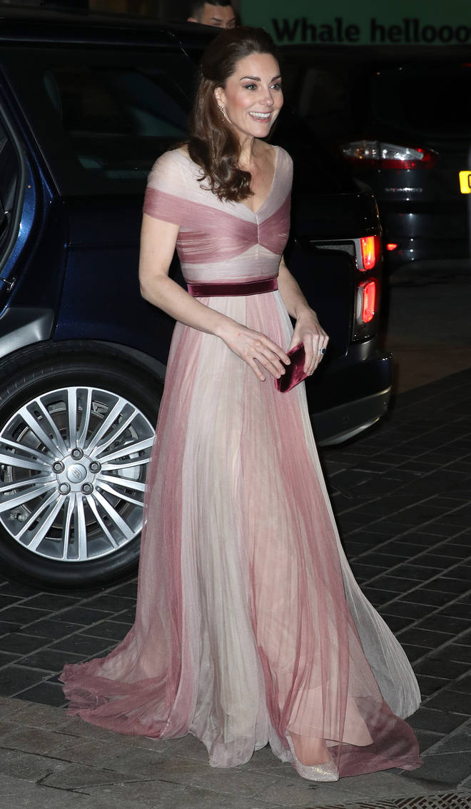 Kate Middleton wore a pink Gucci dress
