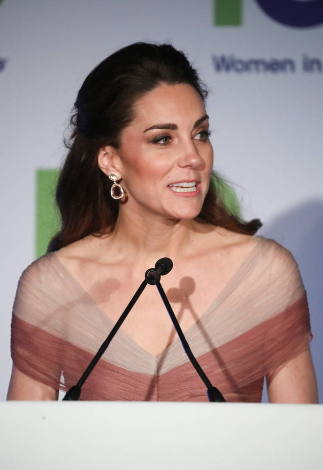 Kate Middleton addressed the attendants at the gala