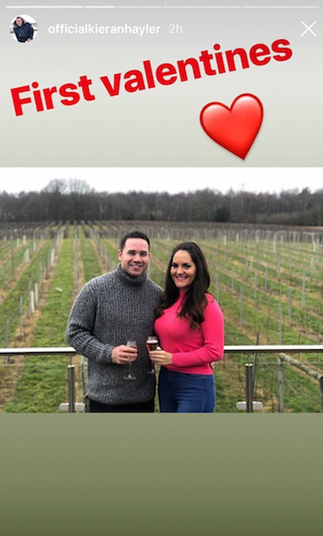 Kieran shared a tribute to his new girlfriend on Instragram