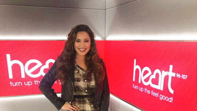 Kelly's looking fab in her outfit today on Heart!