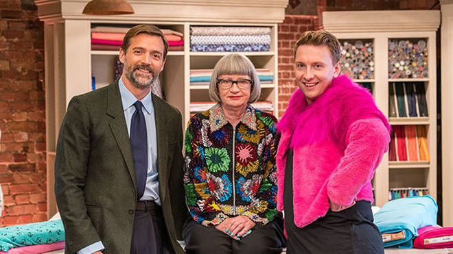 Patrick Grant, Esme Young and Joe Lycett