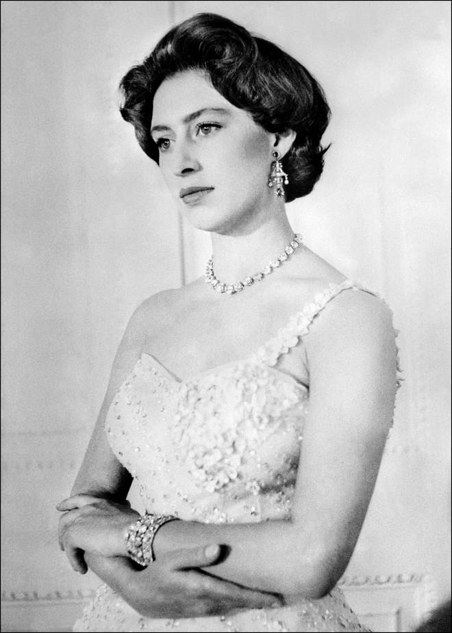 Picture dated 1956 of British Princess Margaret.