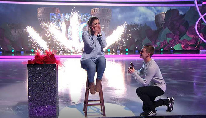 The DOI audience witnessed an adorable proposal last night
