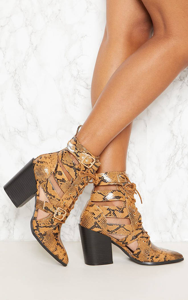 These Pretty Little Thing boots feature cut out detailing
