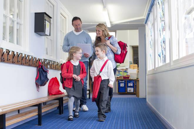 School children and parents
