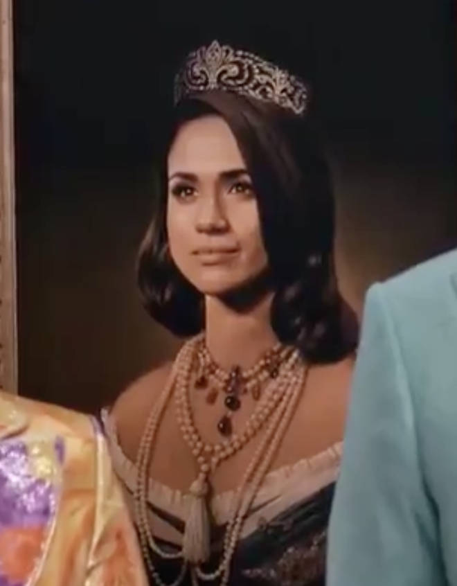 Meghan Markle painted as a queen