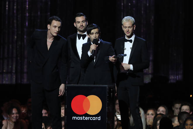 The 1975 scooped up two awards at the BRITs last night