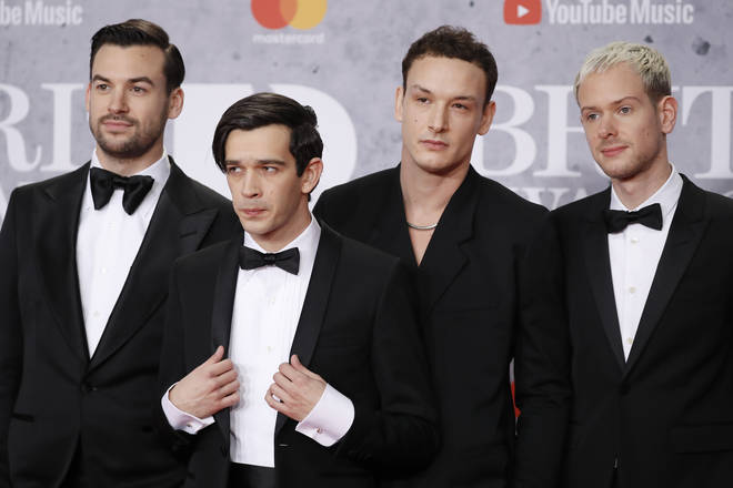 The 1975 on the BRITs red carpet last night