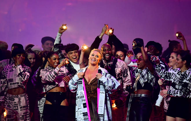 Pink's performance was all about sending a message
