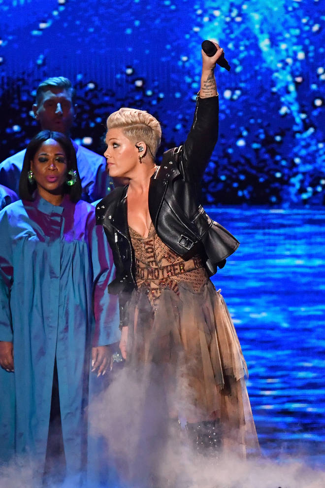 Pink was honoured with the Brit Awards for Outstanding Contribution To Music