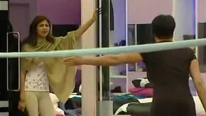 Shilpa Shetty in the Big Brother house in 2007