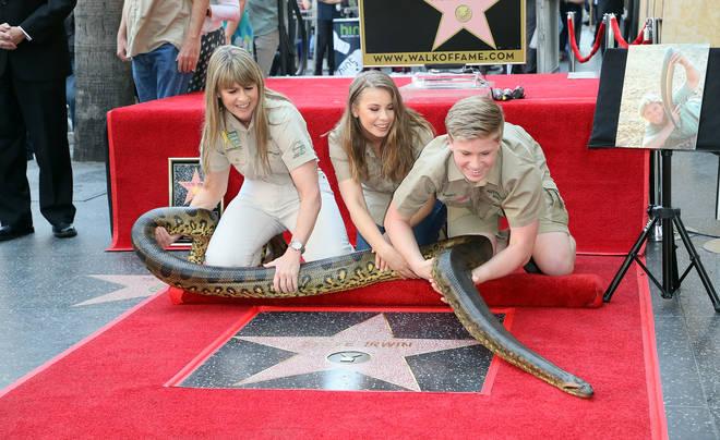 Terri, Bindi and Robert at Steve's Hollywood Walk Of Fame star