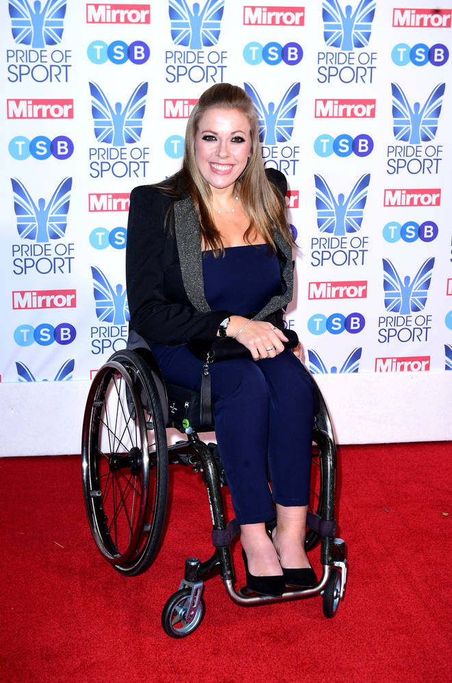 Hannah Cockroft at the Pride Of Britain awards