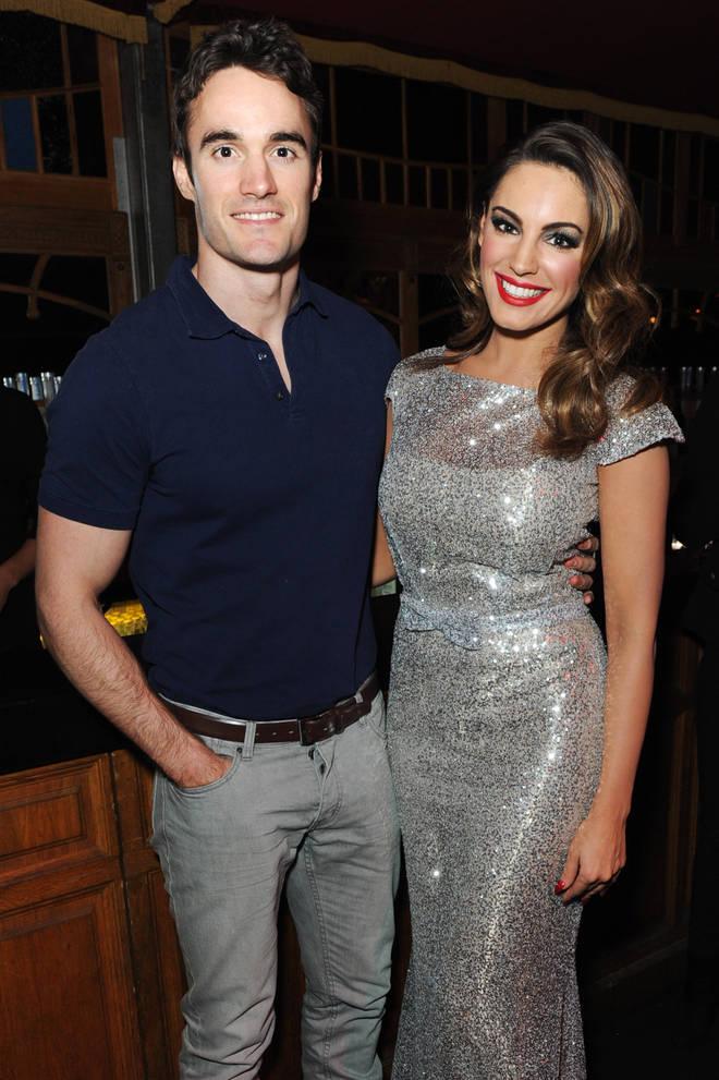 Kelly Brook and her ex-boyfriend Thom Evans