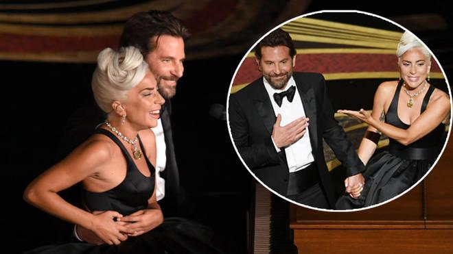 Lady Gaga and Bradley Cooper oscars