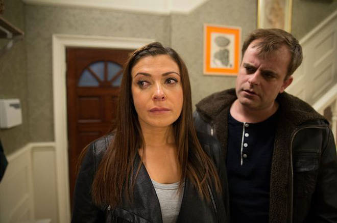 Kym with her on-screen ex-husband Steve McDonald