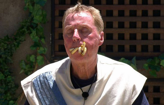 Harry Redknapp trying to eat witchetty grubs came in second place