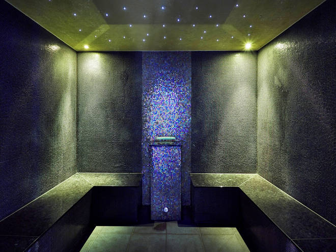 The steam room at Spa Verta