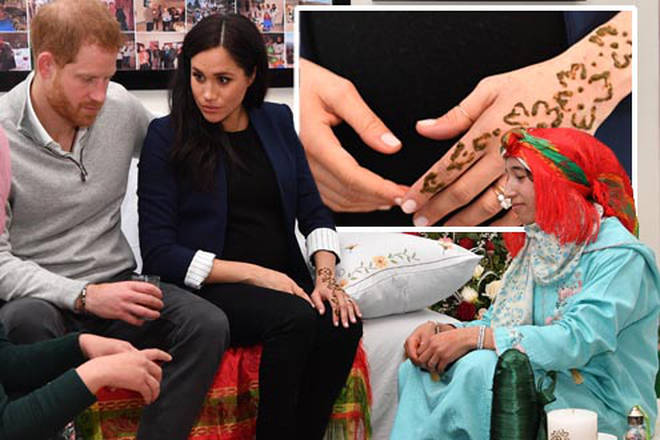 Meghan Markle got treated to a henna tattoo during her time in Morocco