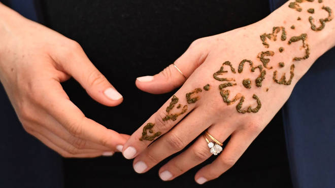 The henna tattoo is believed to have been a gesture of good luck