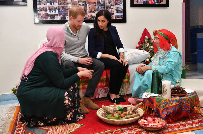 Meghan Markle met the students who attended the school for girls