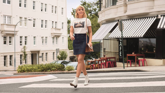 Holly Willoughby has launched a new denim collection with M&S