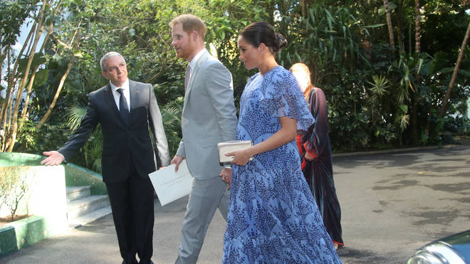 Meghan Markle and Prince Harry on a recent royal visit to Morocco