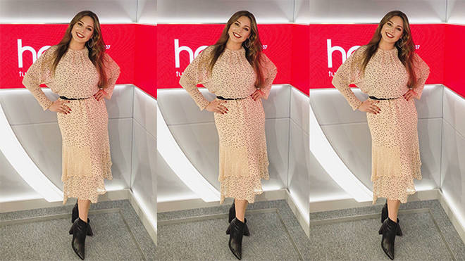 Kelly Brook is looking spring fab on Heart today