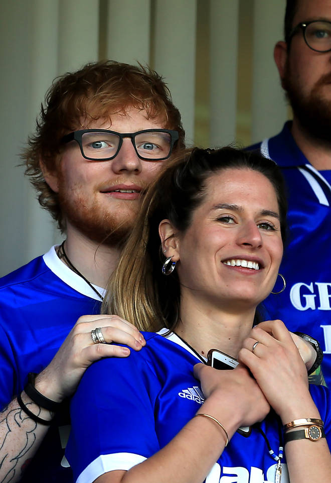 Ed Sheeran and Cherry Seaborn pictured in April 2018