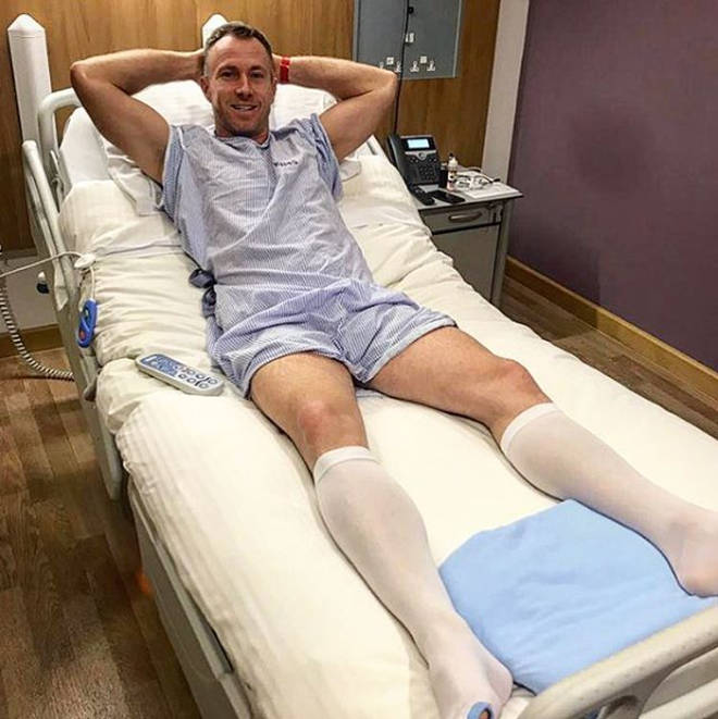 James Jordan - pictured before his double hernia op in December 2017 - might have to quit Dancing On Ice