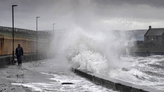 Scotland Battered By Storm Erik