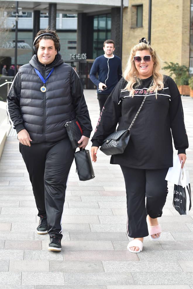 Gemma Collins and James Argent pictured last month before his fat-shaming slurs went public