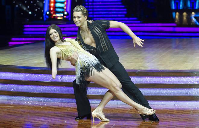 AJ Pritchard with his dance partner Lauren Steadman in 2018