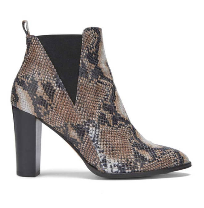 Tala Snake Effect Ankle Boot