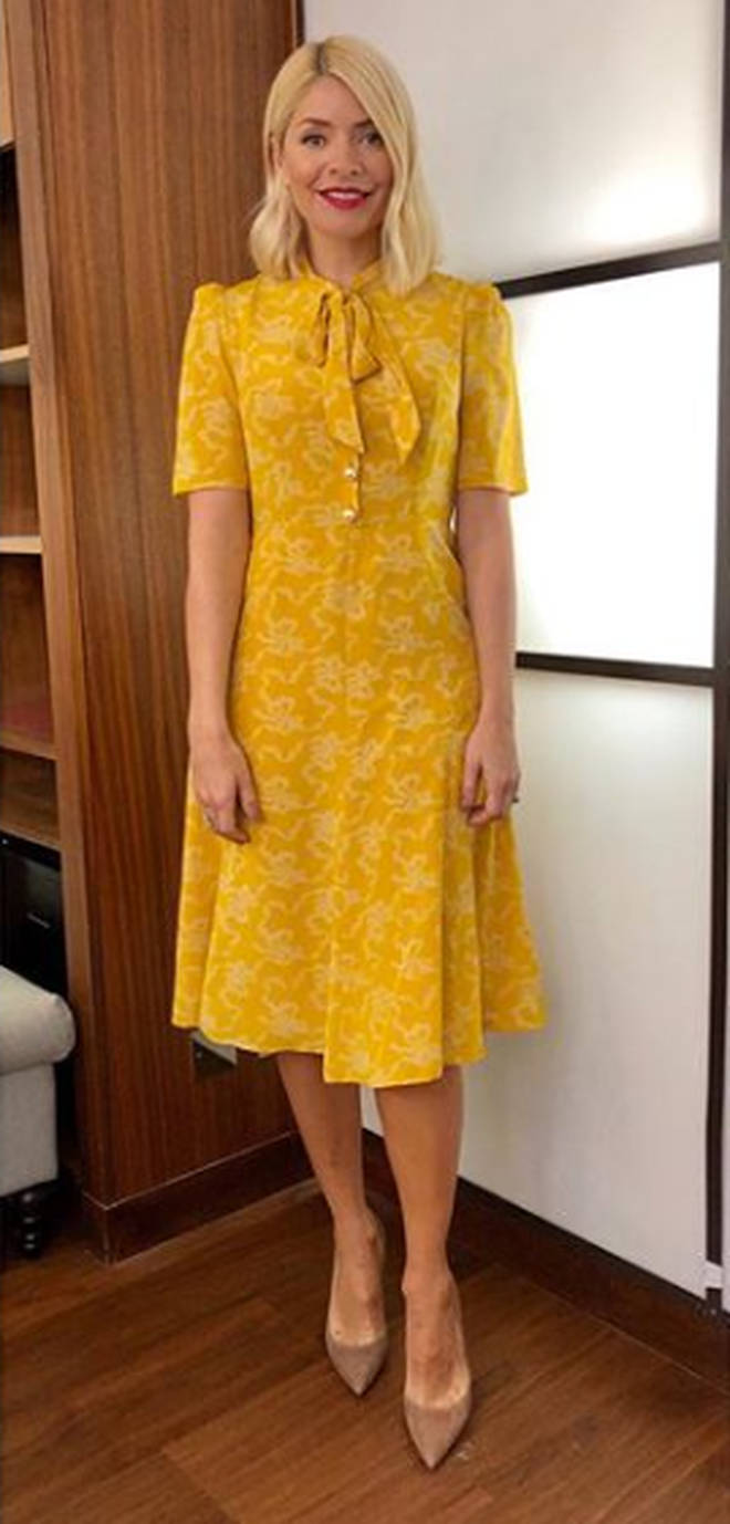 Holly Willoughby wore a LK Bennett dress for This Morning