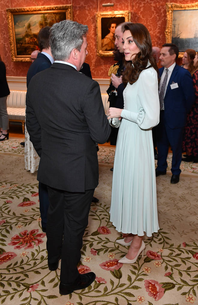 Kate Middleton opted for a blue dress for the occasion