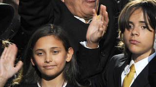 Michael Jackson's children attended the 'King of Pop's' funeral in 2009