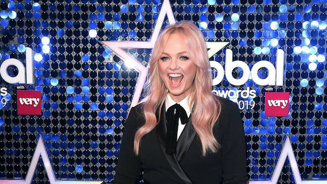 Emma Bunton arrives at The Global Awards 2019 with Very.co.uk