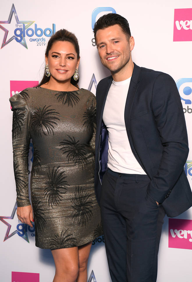 Kelly Brook and Mark Wright presented an award together at The Global Awards 2019 tonight