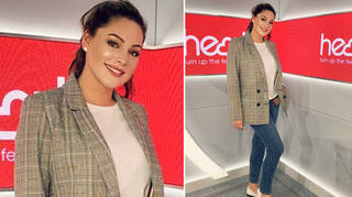 Kelly Brook looked casual chic following the Global Awards with Very.co.uk