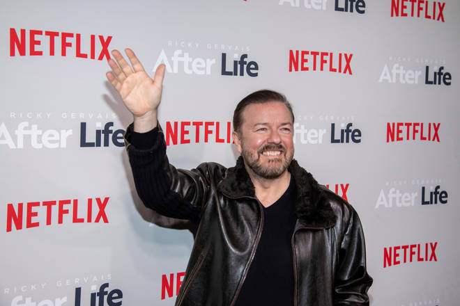 Ricky Gervais at the launch of his new Netflix show, After Life