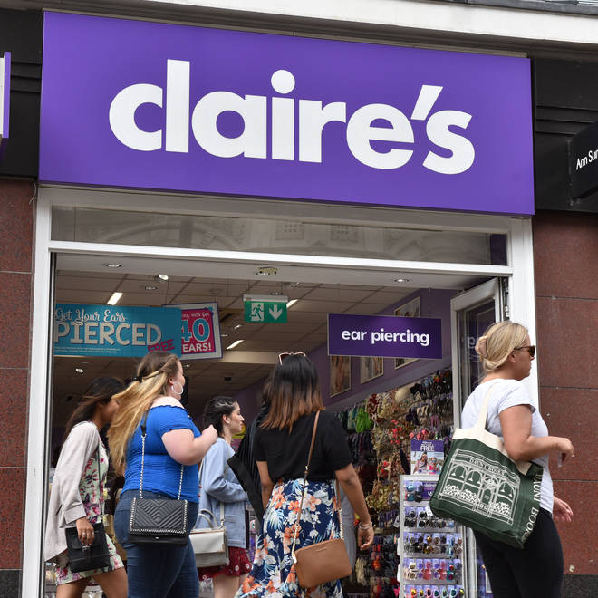 The public are being urged to take care when buying beauty products from Claire's