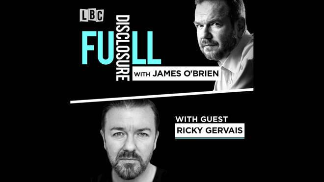 James O'Brien speaks to Ricky Gervais