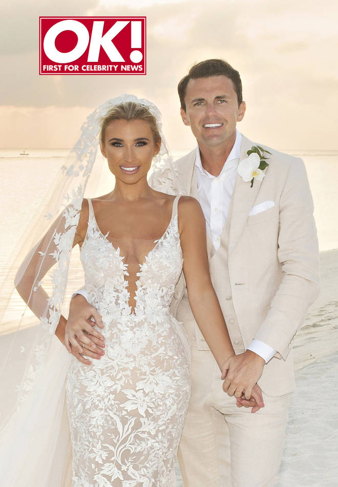 Billie Faiers revealed her wedding dress on this week's issue of OK!