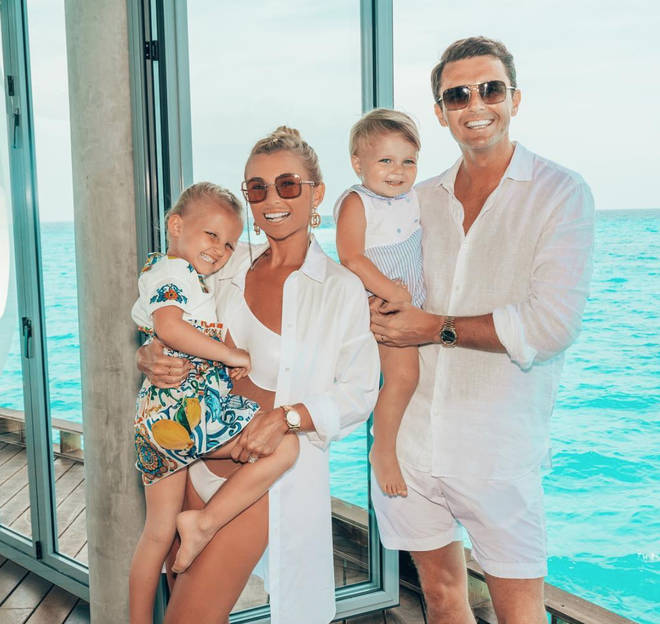 Billie Faiers has two children with Greg Shepherd