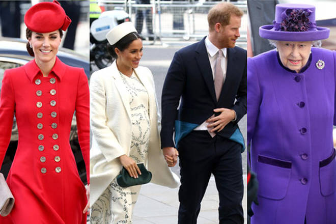 The royal family attended the Commonwealth Service at Westminster Abbey