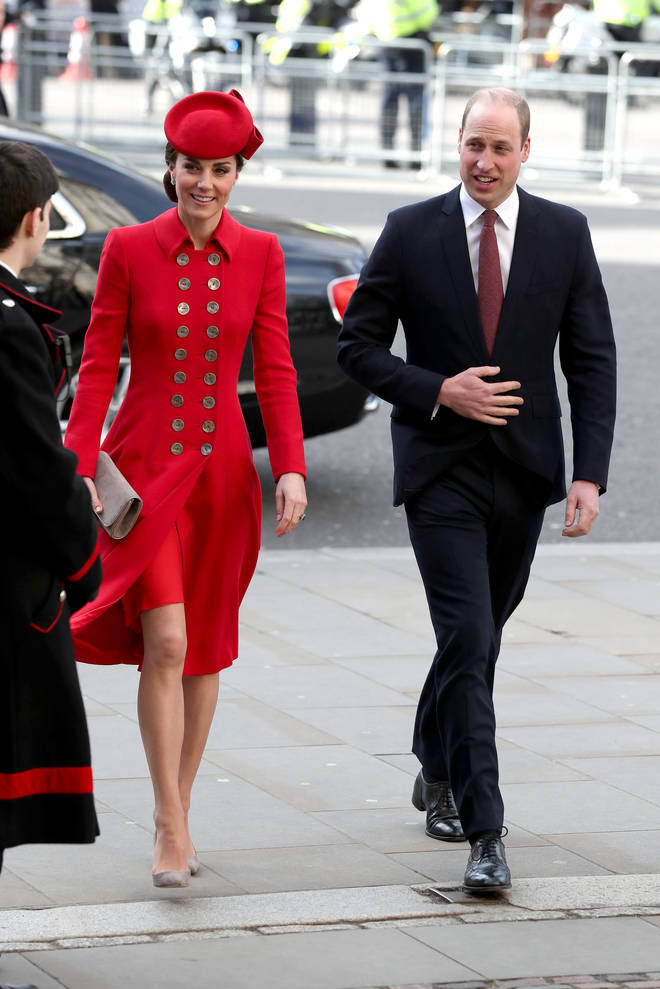 Kate Middleton opted for a red ensemble
